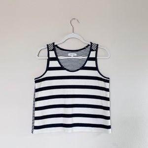 Madewell Navy Cream Stripe Sweater Top S